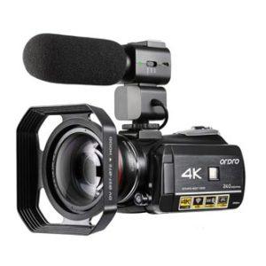 4K Camcorder Video Camera ORDRO HD 1080P 60FPS Vlog Camera