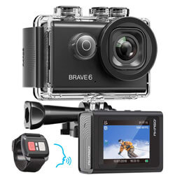 AKASO Brave 6 4K WiFi Action Camera, cheap waterproof action camera