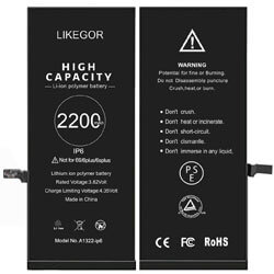 LIKEGOR New Battery for iPhone 6, iphone 6 battery replacement guide