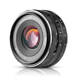 Meike 25mm Wide Angle Lens, lenses for sony a6300 camera, sony a6300 prime lens