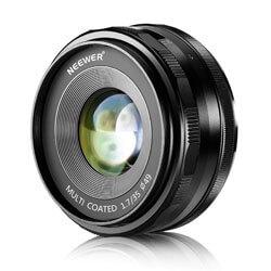 Neewer 35mm F/1.7 Standard Lens, prime lenses for sony a6000