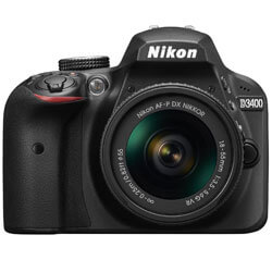 Nikon D3400 w/ AF-P DX NIKKOR, best low light mirrorless camera, low light digital cameras review