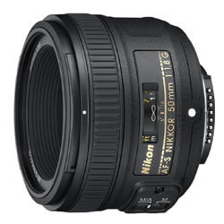 Nikon 50mm f/1.8G Auto Focus-S NIKKOR FX Lens
