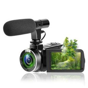 SUNLEA Video Camera Vlogging Camera, best 4k camera for music videos, music video recording camera