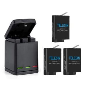 TELESIN Rechargeable 3-Pack