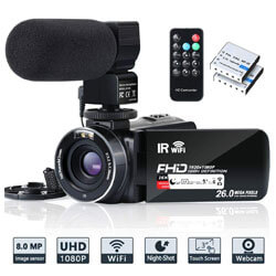 Digital Zoom Camcorder with Microphone, best camcorder for youtube videos