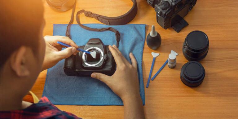 how to clean camera sensor